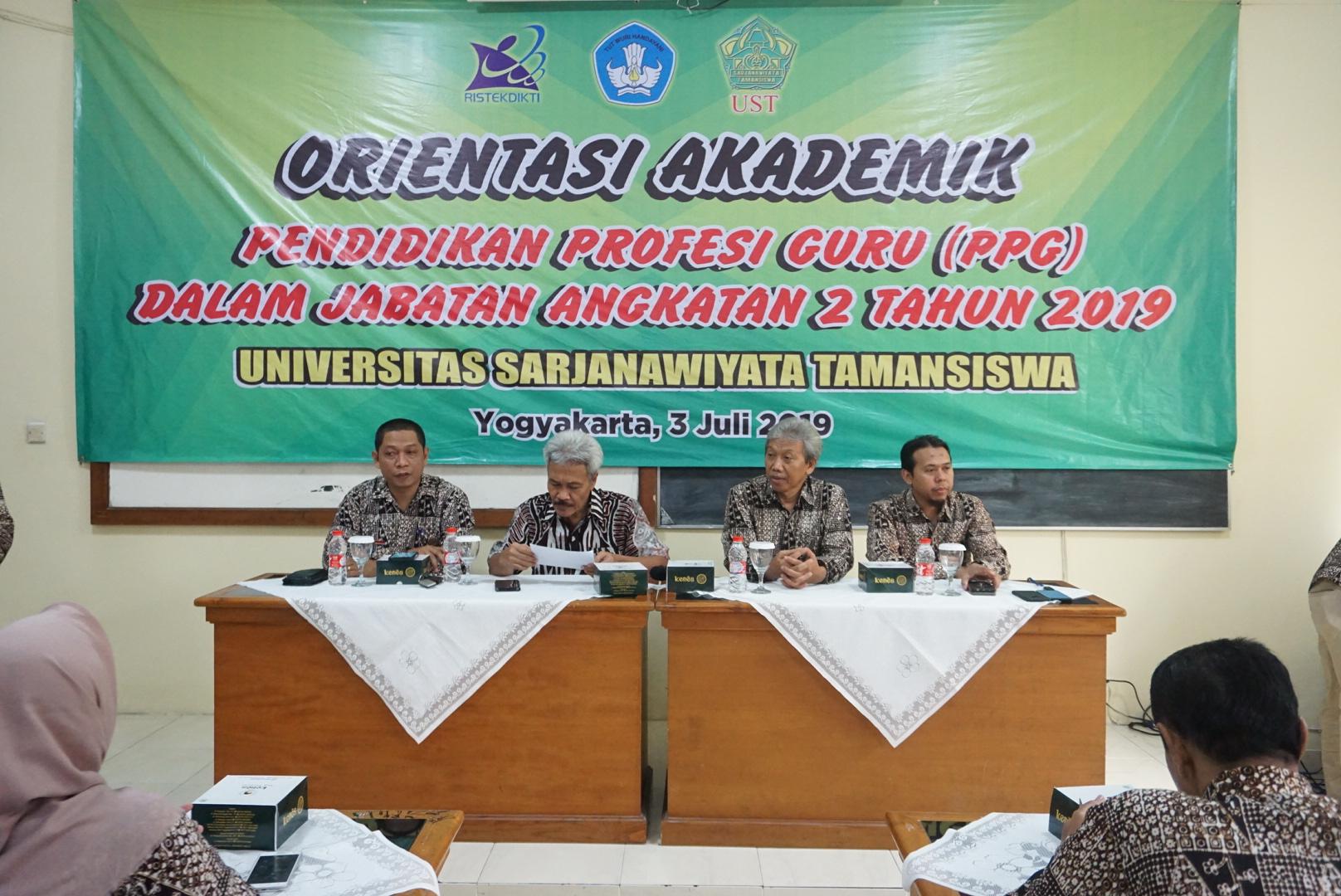Orientasi Akademik PPG Dalam Jabatan (Daljab) Angkatan 2 Tahun 2019